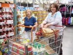 Costco Queens - Rebecca Randall and Shana Harper getting the 'eats'
