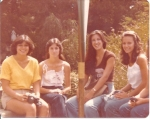 Disneyland:  Lisa, Annette Labbe, Tina and Linda Chatterley